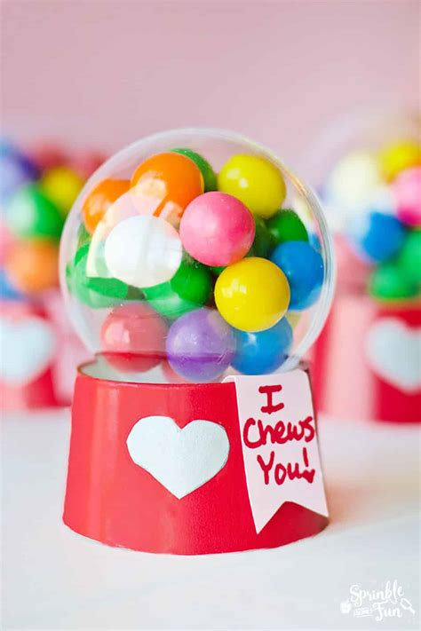 gumball machine valentines mini bubblegum machine valentines tutorial