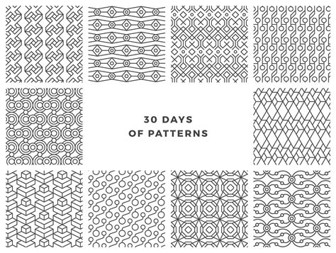 pattern maker of days gone by 30 days of patterns on behance