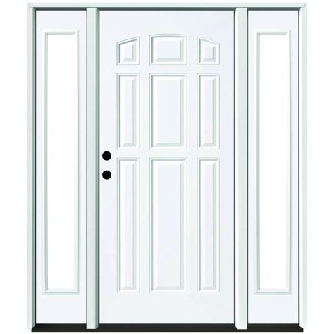 No Panel Door by Steves Sons 64 In X 80 In 9 Panel Primed White Right