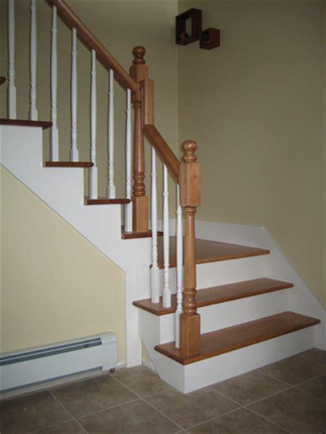 pose d escaliers laqu blanc installation d escalier en bois