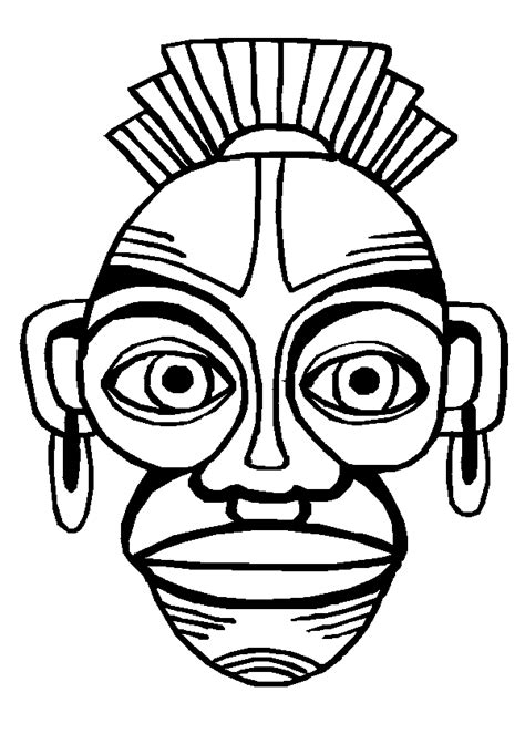 Masques Africains Petitweb Lu Coloriage Masques Africains L