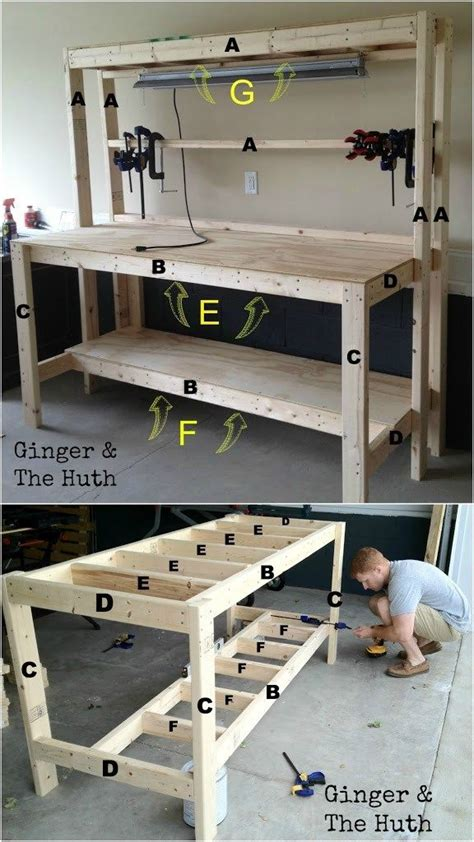 work bench idea best 25 garage workbench ideas on pinterest workbench