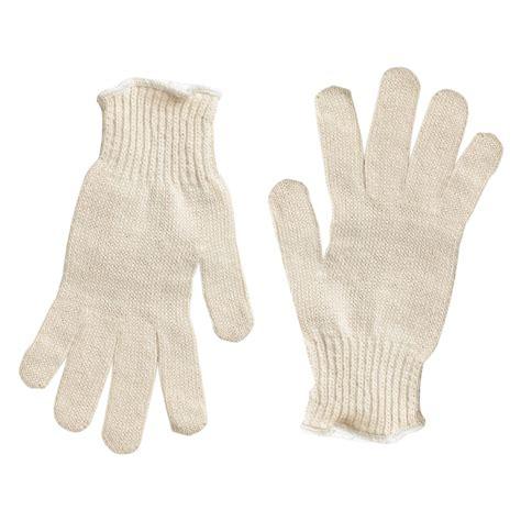 string knit gloves cotton poly string knit gloves