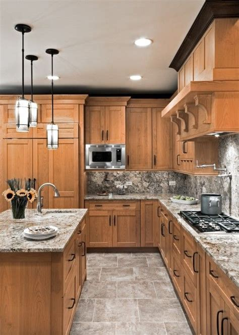 light maple shaker cabinets love the countertops the pendant lights and the color of