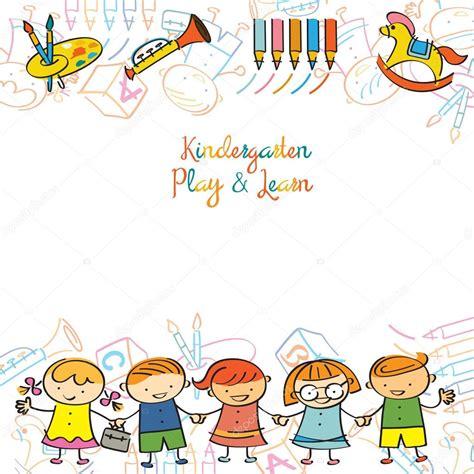 imagenes niños jardin de infantes jard 237 n de infantes los ni 241 os y parque infantil marco