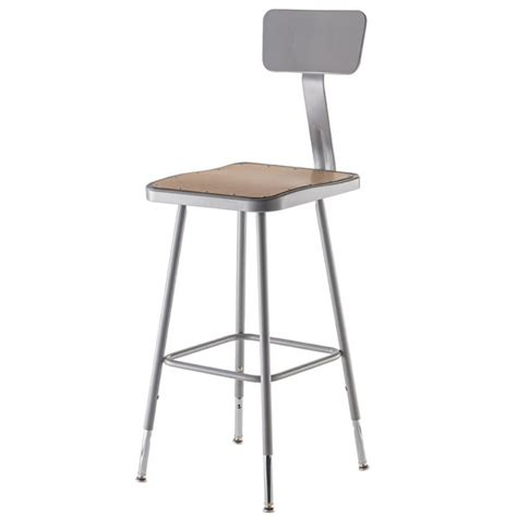 Science Lab Stools With Backs by Nps 6324hb 25 33 Quot H Adjustable Height Square Seat Lab Stool