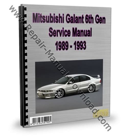 auto manual repair 1998 mitsubishi galant security system mitsubishi galant 6th gen 1989 1993 service repair manual downl
