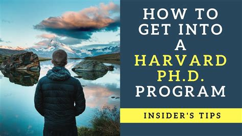 What Do You Need To Get Into Harvard Mba by How To Get Into A Harvard Phd Program Top Tips For