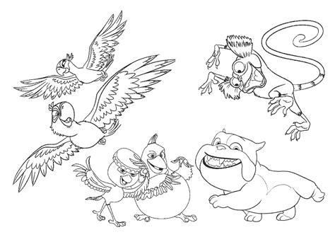 rio birds coloring pages free coloring pages of y birds rio