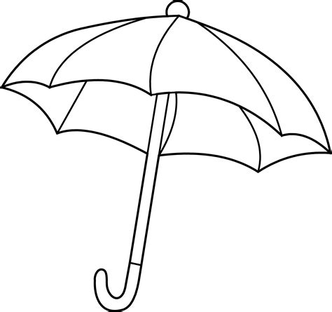 coloring page of umbrella umbrella coloring page free clip art