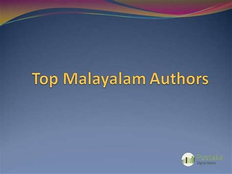 powerpoint tutorial in malayalam top malayalam authors authorstream