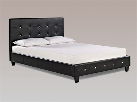 Bed Frame Black by Lpd Diamante King Size Black Faux Leather Bed Frame