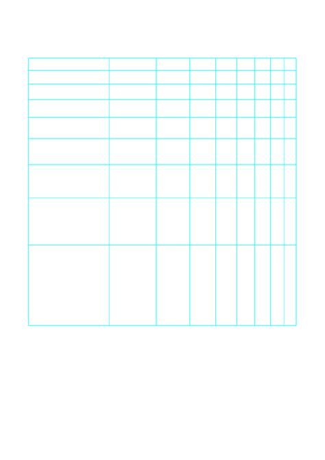 Log Log Paper One Decade Horizontal Axis And One Decade Vertical Axis A Free Download Genkouyoushi Paper Template