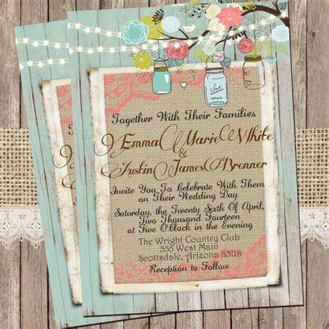 mint and coral wedding invitations best 20 coral rustic weddings ideas on