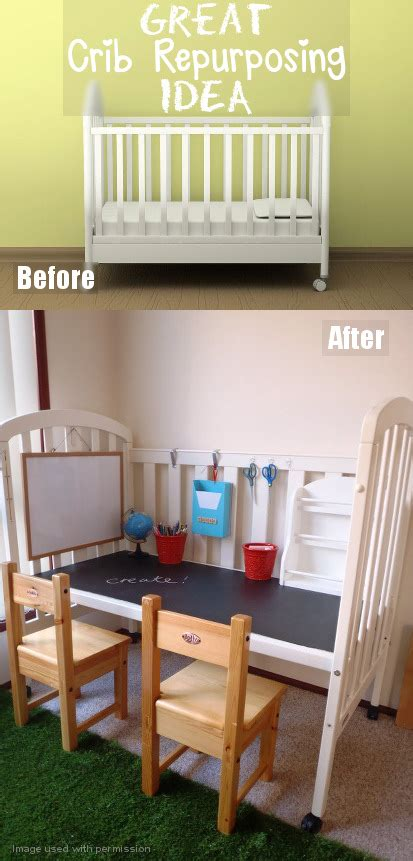 diy crib conversion to practical and station