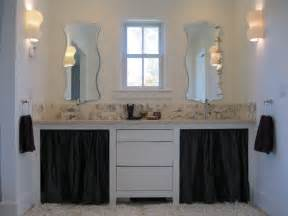 Master bath vanity with marble backsplash eclectic