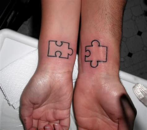 couple puzzle piece tattoo 70 tattoos to stay in forever mens craze