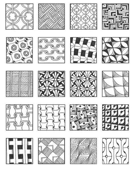 zentangle pattern guide 648 best images about zentangle patterns on pinterest