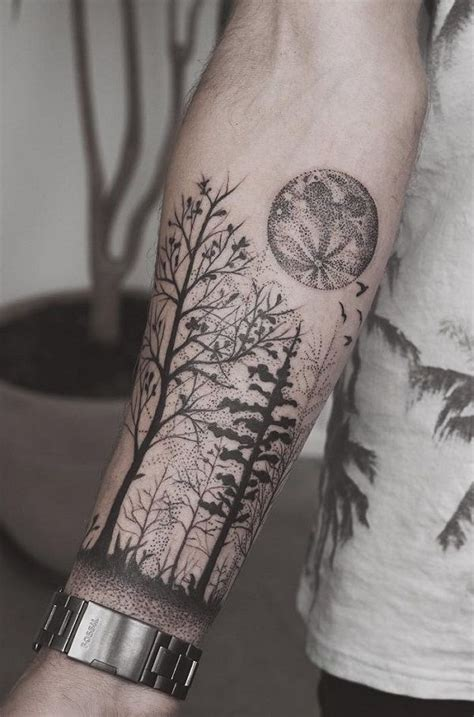 110 awesome forearm tattoos forest forearm