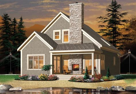 Narrow Lot Plan 1 742 Square Feet 2 3 Bedrooms 2 House Plans With Porch Fireplace