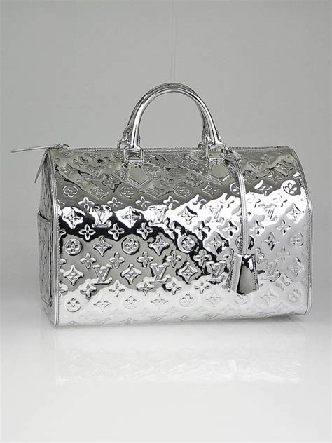 louis vuitton limited edition silver monogram miroir