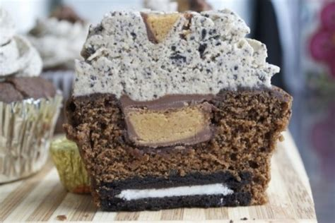 Choco Crust Oreo By Banker oreo and peanut butter cup cupcake topped with oreo