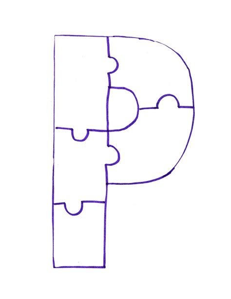 letter p is for painted puzzle craft and song clipart
