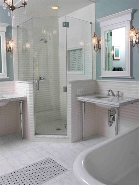 shower stalls small bathrooms corner
