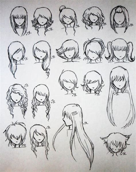 cute easy hairstyles to draw 108 best images about manga hairstyles on pinterest