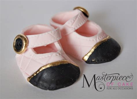 chanel baby shoes gumpaste chanel inspired baby shoes cakecentral
