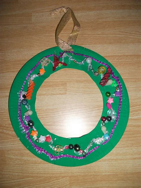 preschool crafts for kids paper plate christmas wreath