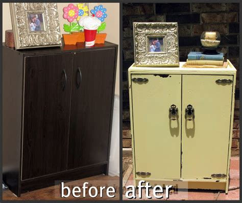 Cheap Cabinet Makeover by Tattered And Inked Painting Cheap Laminate Cabinet
