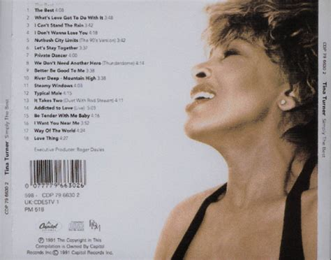 tina turner simply the best car 225 tula trasera de tina turner simply the best portada