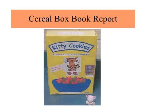 Cd Book Report Project by Cereal Box Book Report Sle Pic Of How To Make A Cereal Box Book Report Scope Of Work Top