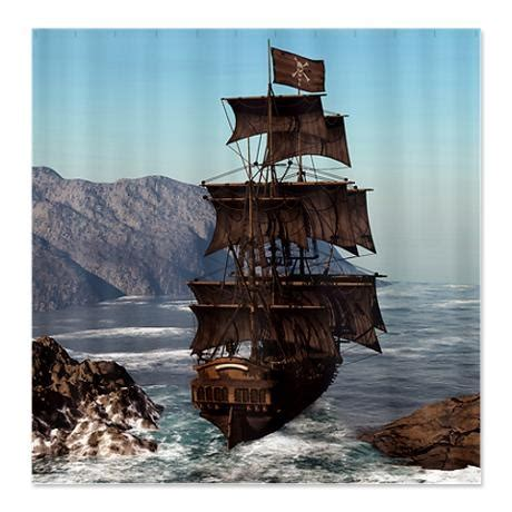 pirate ship shower curtain pirate ship shower curtain on