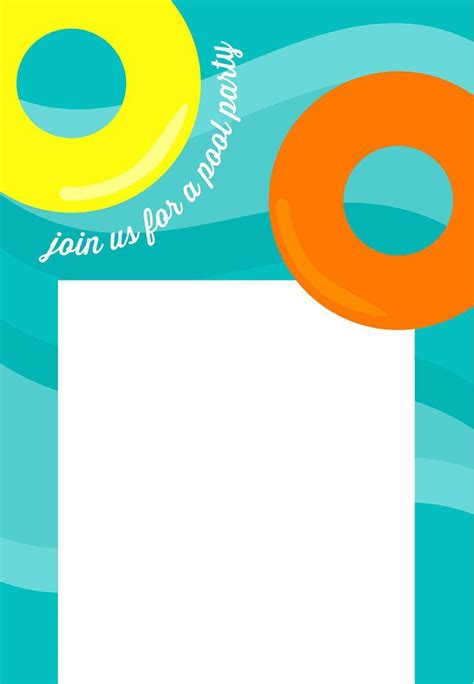 free printable pool party invitations free printable pool party