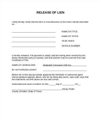 Release Letter Format Pdf auto lien release letter sle docoments ojazlink