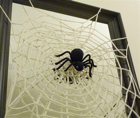 spider web pattern crochet halloween spider and web