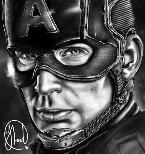 Captain America Wallpaper Portrait | captain america chris evans portrait by jjfroud on