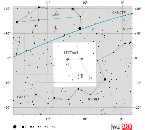 sextant facts sextans constellation facts story stars deep sky