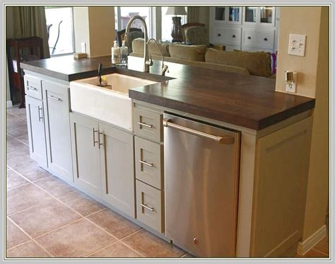 kitchen island with sink and dishwasher home