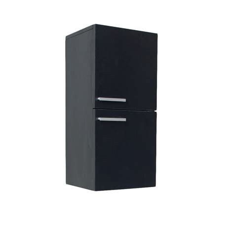 Black Bathroom Linen Side Cabinet Uvfst8091bw Black Linen Cabinets For Bathroom