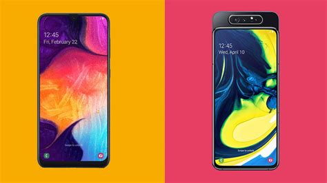 Samsung Galaxy A80 Vs A90 by Samsung Galaxy A50 Vs Galaxy A80 Which Affordable Phone Is Best For You Techradar