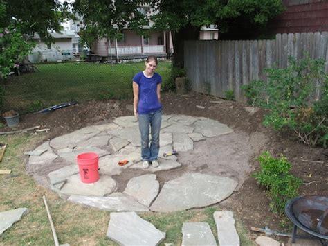 building a flagstone patio made remade