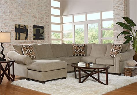rooms to go harker heights harker heights platinum 3 pc right sectional living room living room sets beige