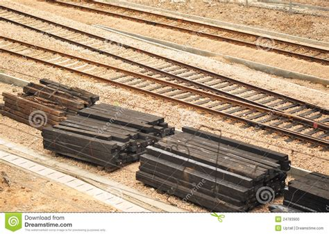 Track Sleepers by Sleeper And Tracks Stock Photo Image 24783900