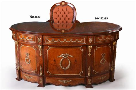 A Graceful French Neoclassical Style Mahogany And Veneer Kidney Shaped Executive Desk
