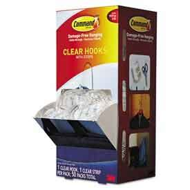 3m Command Clear Medium Hooks With Clear Strips 17091clr Murah pushpins rubberbands hooks 3m command clear