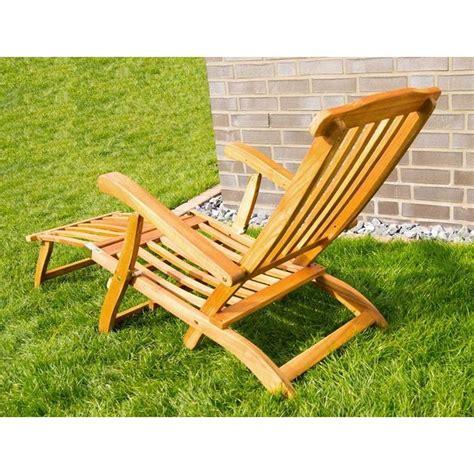 sedie a sdraio da giardino sedia sdraio da giardino in legno con braccioli e poggiapiedi