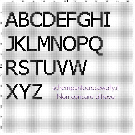 ricamo lettere punto croce alfabeto da ricamare punto croce gratis carattere font